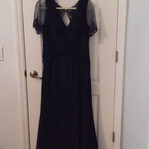 Adrianna Papell navy evening gown, size 14.